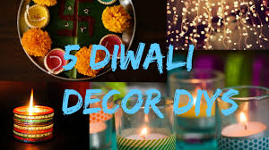 Home Decoration Ideas For Diwali 5 Diwali Decor Diys Floating Fire Light Diya Garland More