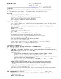Resume Researcher Biomedical Research Resume