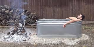 Wood Heated Bathtub Engineer Makes Diy Tub For 250 Business Insider