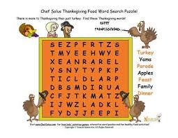 holidays 11 chef solus thanksgiving nutrition word search