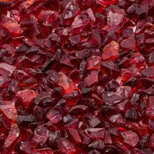 margo garden products 1 4 in 10 lb red landscape fire glass