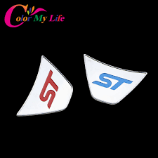 logo ford fiesta color my life st steering wheel sequins sticker abs chrome cover