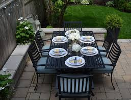 Agio 7 Piece Patio Dining Set - diy backyard oasis by cindy mckay