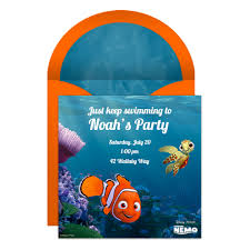 finding nemo party online invitation finding nemo online