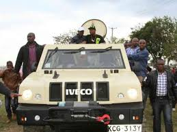 armored vehicles photos governor kabogo shows president uhuru around kiambu in