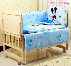 Cheap Childrens Bed Baby Bedding Set Cotton Crib Bumper Pillow Baby Cot Baby Bed