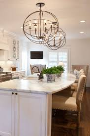 best ideas about curved kitchen island pinterest stunning kitchen with white cabinets farmhouse sink large island seating and granite countertops
