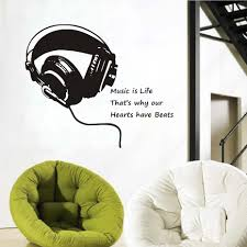 popular large music notes buy cheap large music notes lots from dctop music is life headphones wall stickers home decor bedroom kids music note wall decals large