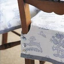 how to make a dining room chair close up of closure detail on dining chair slipcover slipcovers