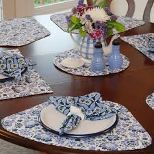 placemats for round table dining room attractive dining room design ideas using light blue