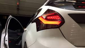 2014 ford focus tail light focus st led tail lights smoked red youtube