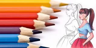color with colored pencils i draw fashion