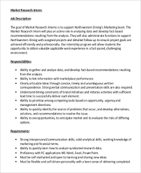 research intern marketing intern description sle 9 exles in word pdf
