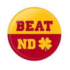 usc beat notre dame button by wire