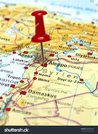 Syria Conflict Map Map Syria Pin Set On Aleppo Stock Photo 402985168 Shutterstock