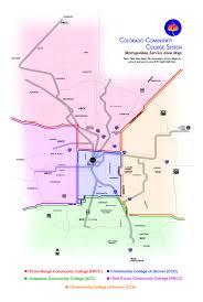 Aurora Map Service Area Map For Metro Denver Colorado Community College System