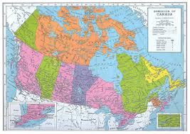 Physical Map Of Canada by Detailed Old Political And Administrative Map Of Canada Vidiani