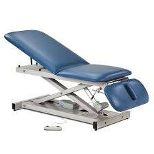 clinton industries medical tables open base power table with adjust backrest and clinton industries