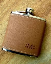 his and flasks initialled leather flask engraved hip flask custom