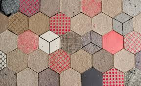 wallpapering tiles made of paper by dear human design milk