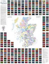 tartans map of scotland collins pictorial maps collins maps