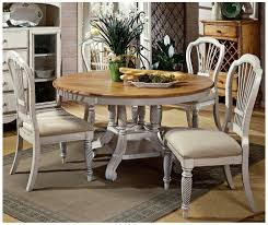 antique white dining table amazon com hillsdale wilshire 5 piece round dining table set in