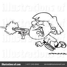 laser tag clipart 441810 illustration by toonaday