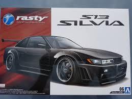nissan sileighty 1991 nissan silvia turbo k u0027s rasty s13 u2013 aoshima rays kits
