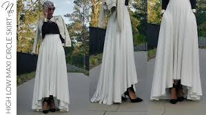 nadira037 diy high low maxi circle skirt tutorial youtube