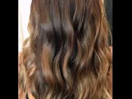 light brown highlights on dark hair caramel highlights for dark light hair youtube