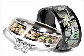 camo wedding rings his and hers his and camo wedding ring sets evgplc