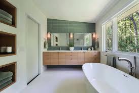 mid century modern bathroom lighting lovable white glossy ceramic