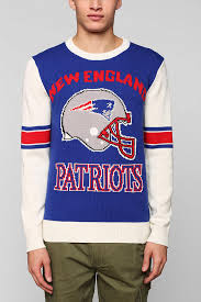 patriots sweater lyst outfitters nfl patriots sweater in blue