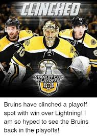 Bruins Memes - stanley cup playoffs bruins have clinched a playoff spot with win
