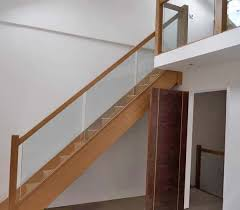 Contemporary Banisters And Handrails Glass Balustrading Oak Handrail With Glass Toughened Glass