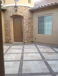 courtyard design courtyard rug pavers phoenix landscaping styles desert crest llc