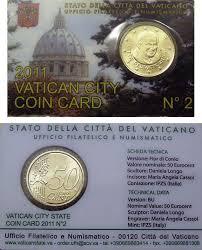 jencius coins 2011 vatican coin card 50 eurocent
