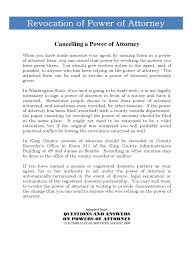 Durable Power Of Attorney Maine by Revocation Of Power Of Attorney Form 17 Free Templates In Pdf