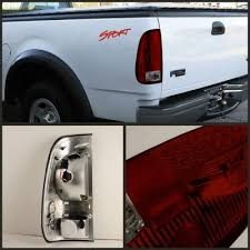 2002 ford f150 tail lights ford f150 1997 2003 red and smoked led tail lights a103zu46109
