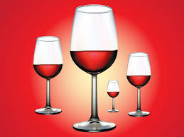 wine vector red wine glasses
