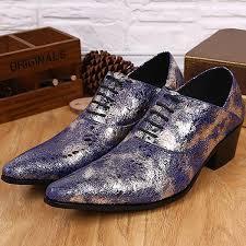 wedding shoes korea korea style fashion shines blue toes leather men s shoe oxford