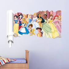 stickers muraux pour chambre bande dessinée princesse stickers muraux pour chambre d enfants