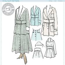 historical pattern review 1910s suit jacket skirt pattern circa 1916 wearing history