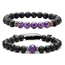 crystal stone bracelet images Jsdde unisex chakra healing crystal stone bracelet lava bead jpg