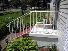 2 Step Handrail Stairs Astounding Handrails For Front Steps Lowe U0027s Handrails For