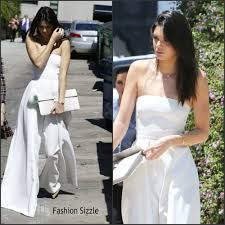 white jumpsuit wedding kendall jenner in white jumpsuit at phantom of the opera la