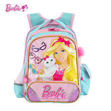 barbie cartoon orthopedic children kids student books bag