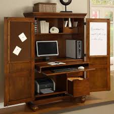 Wood Computer Desks For Home Office Cabinets Entrancing Crystal Office Armoire With Elegant