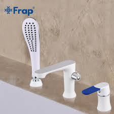 frap three piece bathtub faucet three hole separation split white