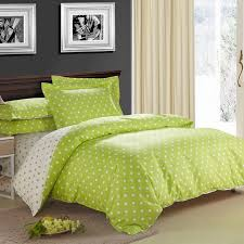 Green Bed Sets Lime Green And Beige Fashion Polka Dots Style Abstract